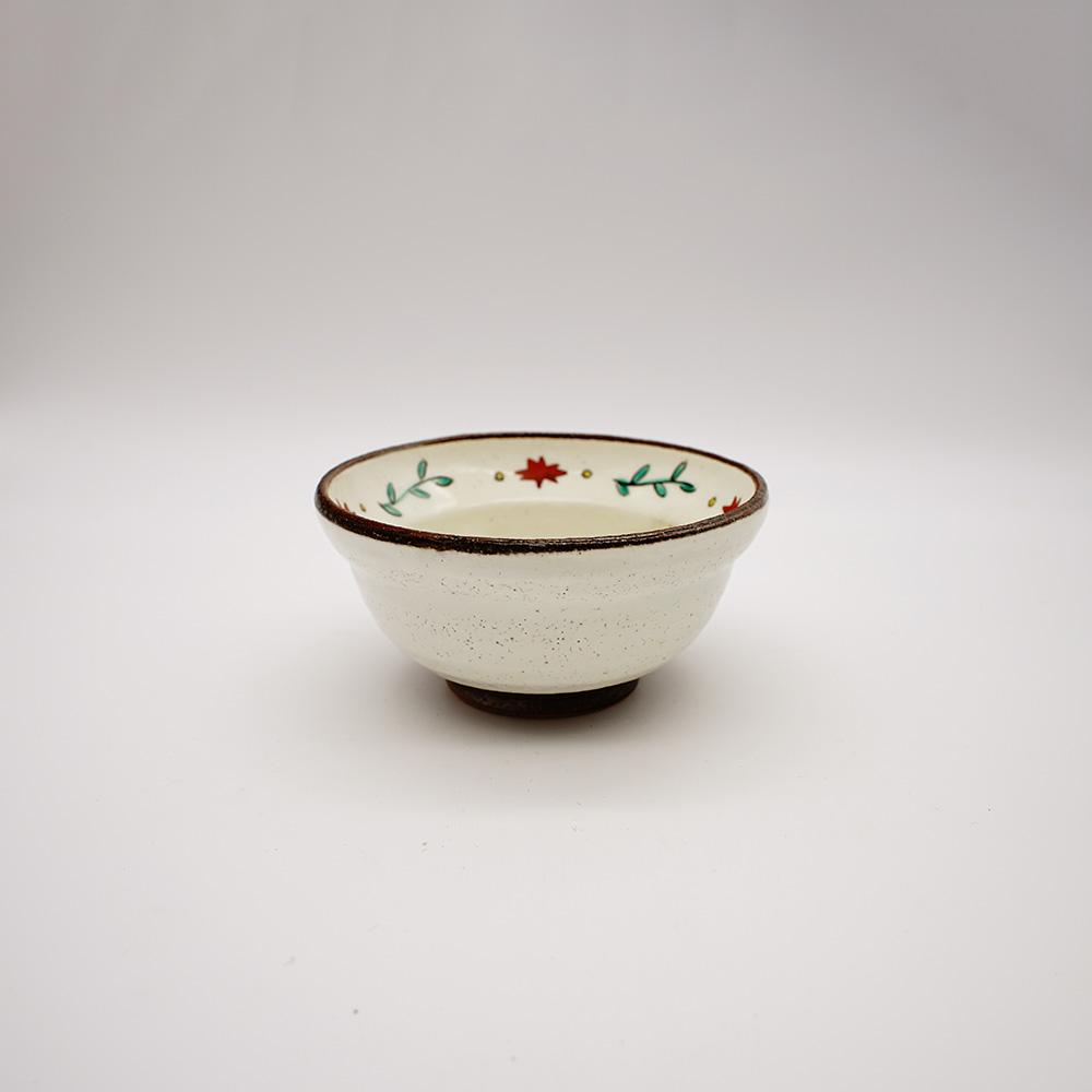 BE-25 色花絵粉引 小鉢