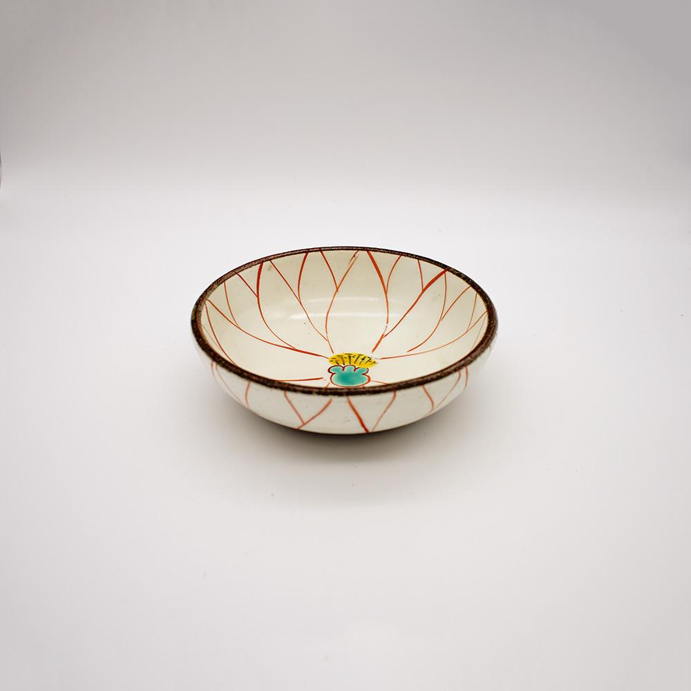 BE-26A 粉引花絵鉢
