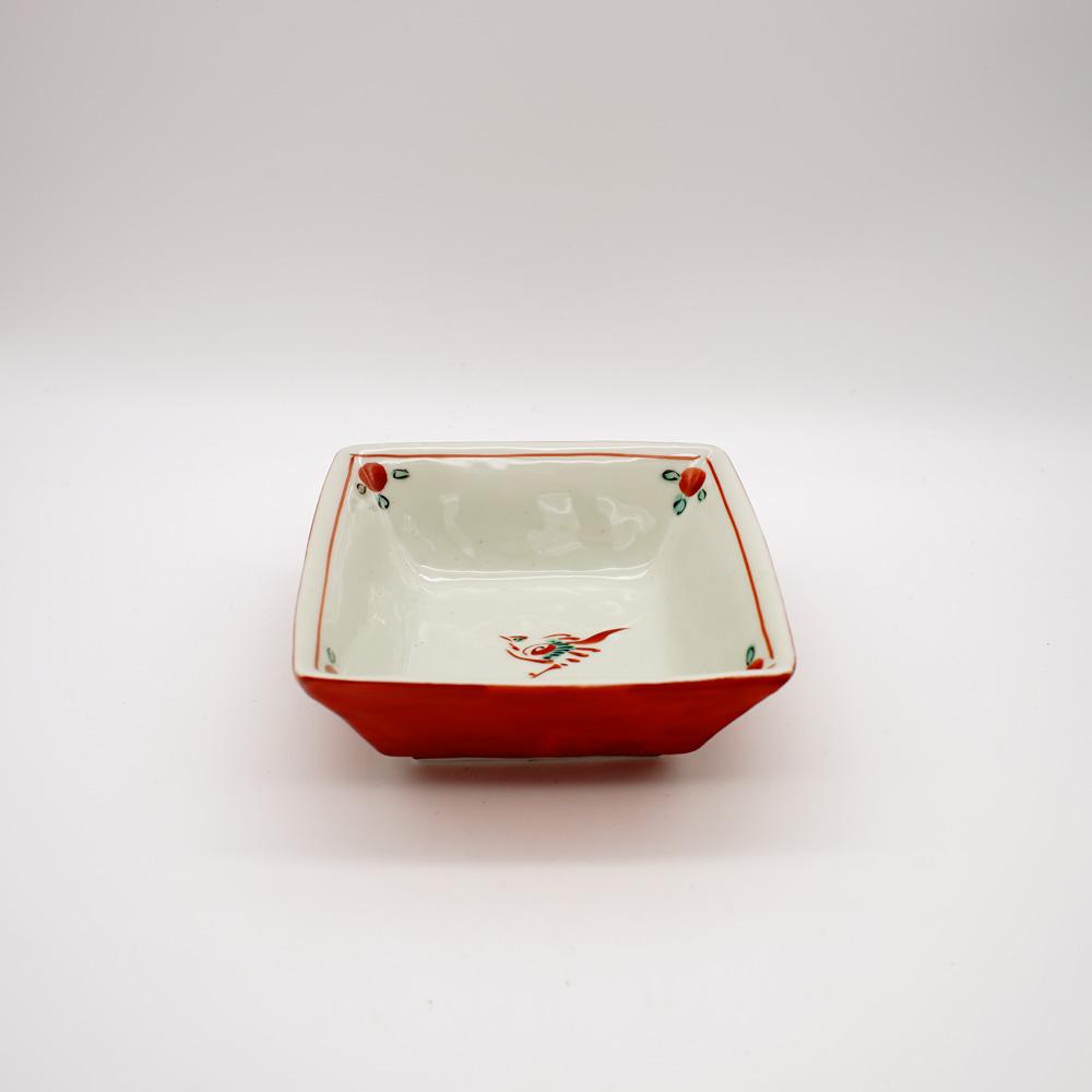 BP-3B 赤巻鳥紋 角小鉢