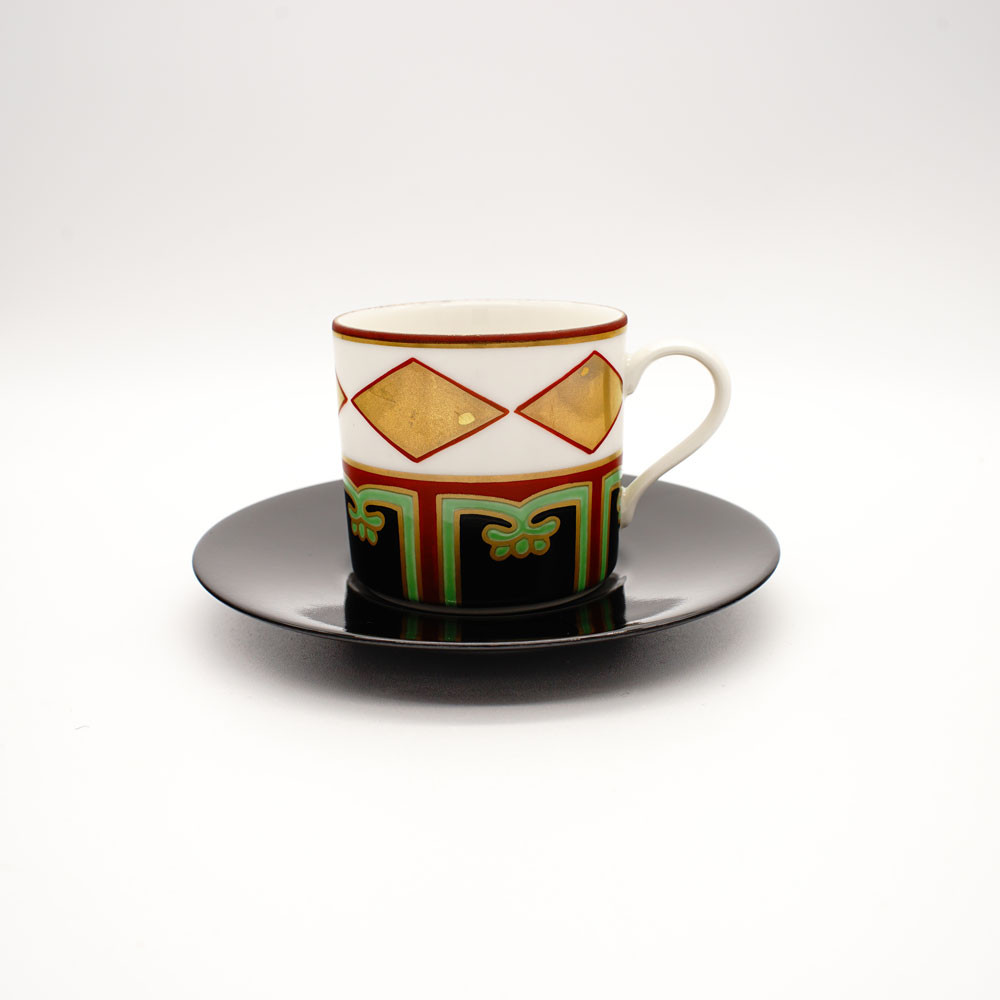 CP-1A 色絵金菱 コーヒー碗皿