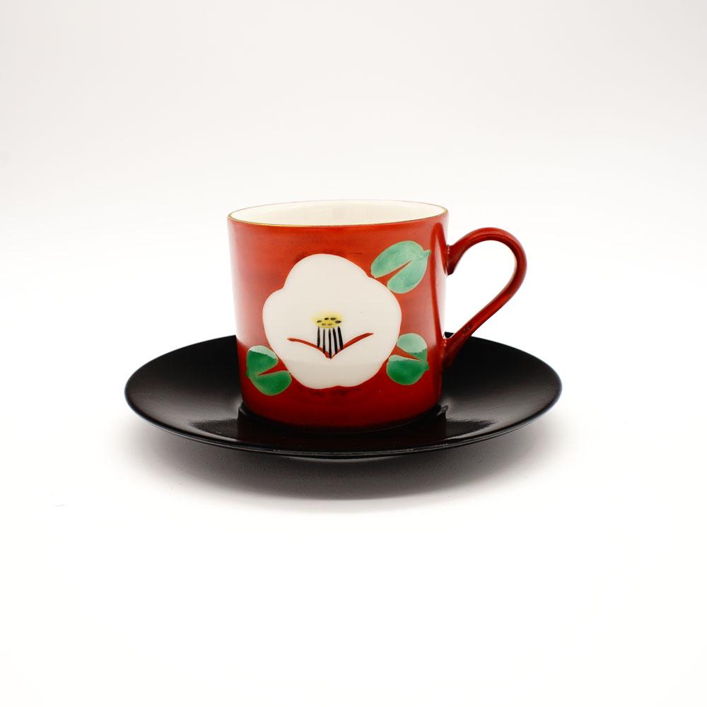 CP-1D 白椿 コーヒー碗皿