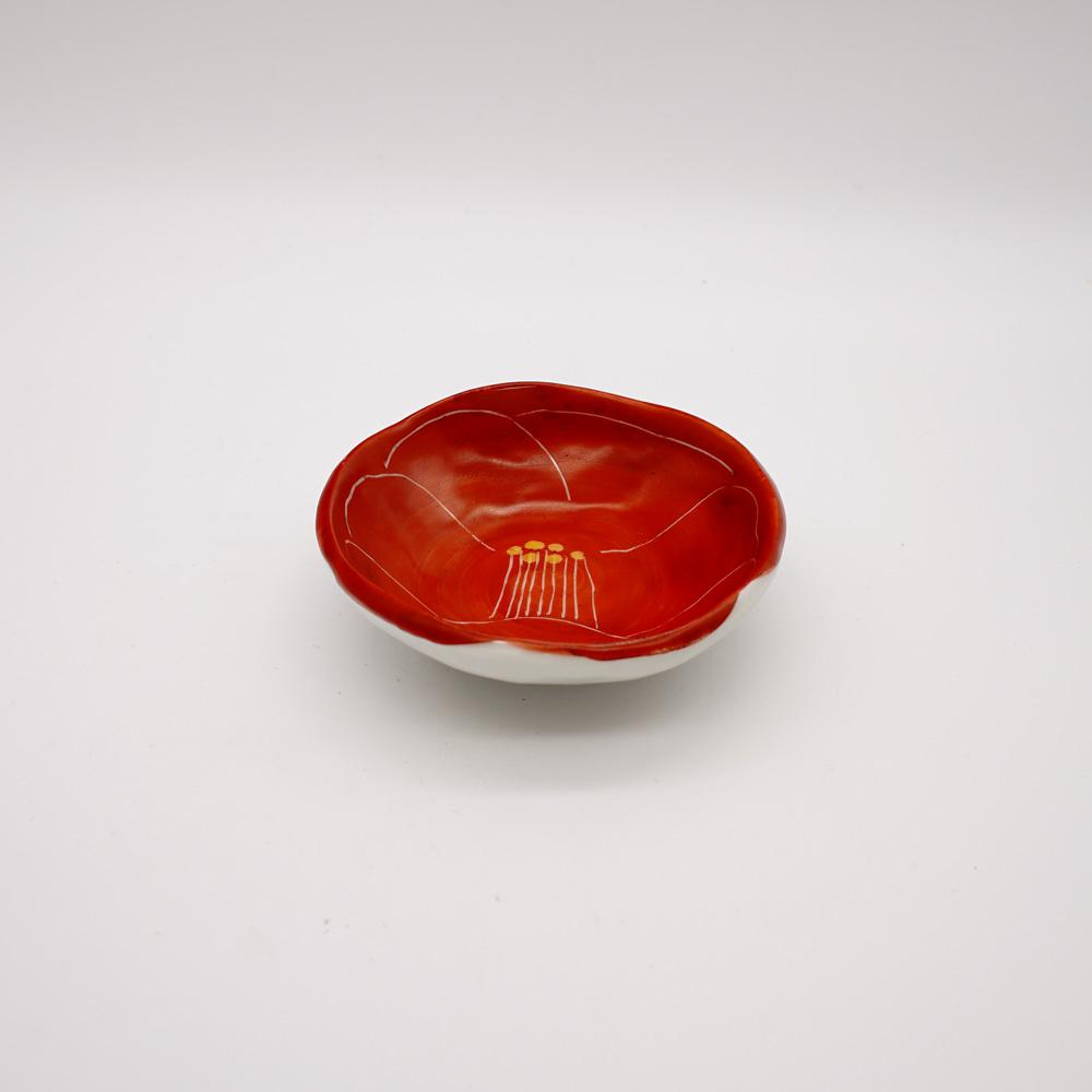 LP-5E 赤彫椿 小皿