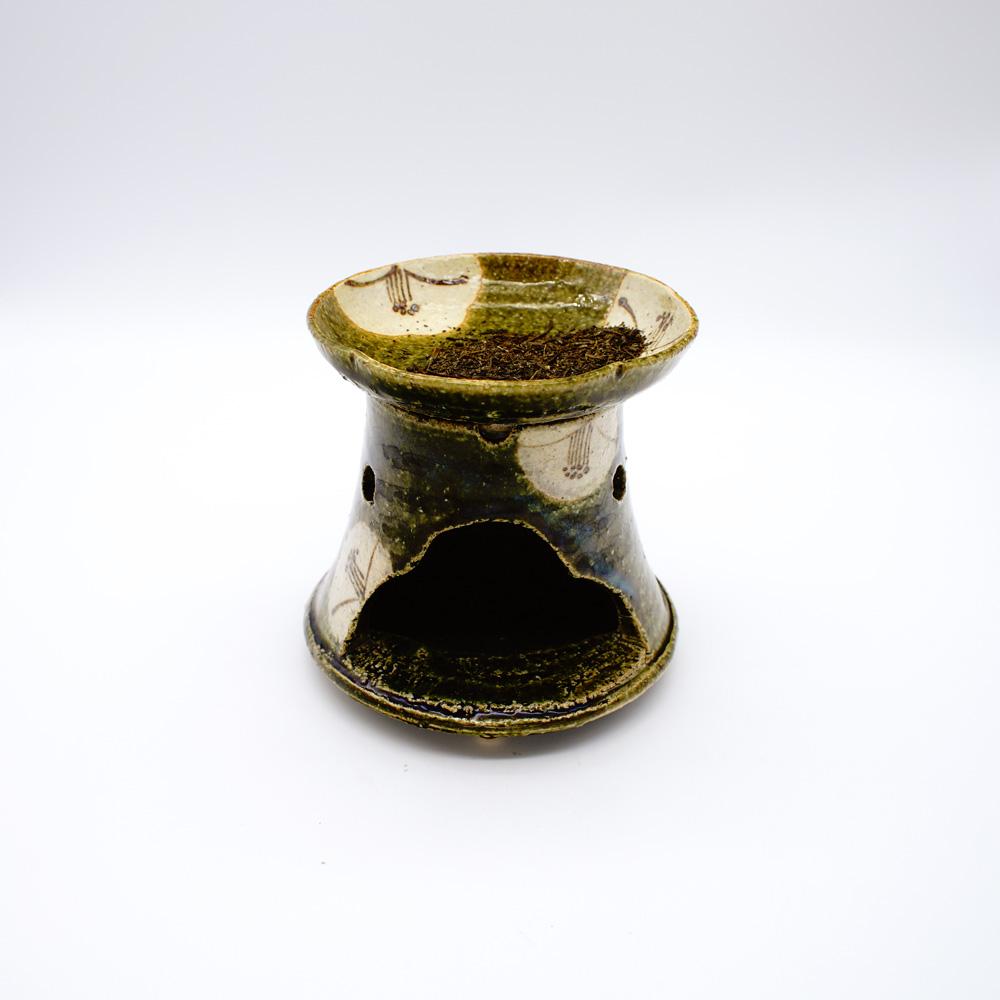 GE-4A 茶香炉 織部椿