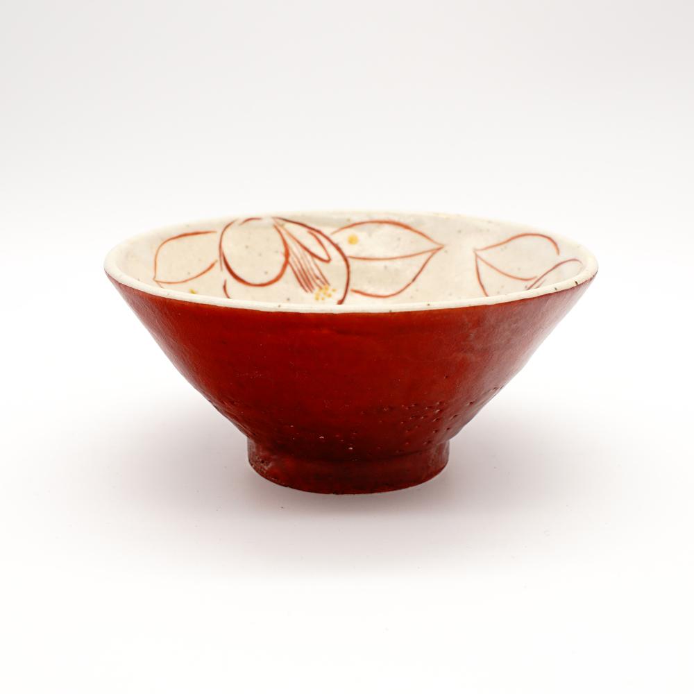 HE-8C 赤巻彩り椿 小碗