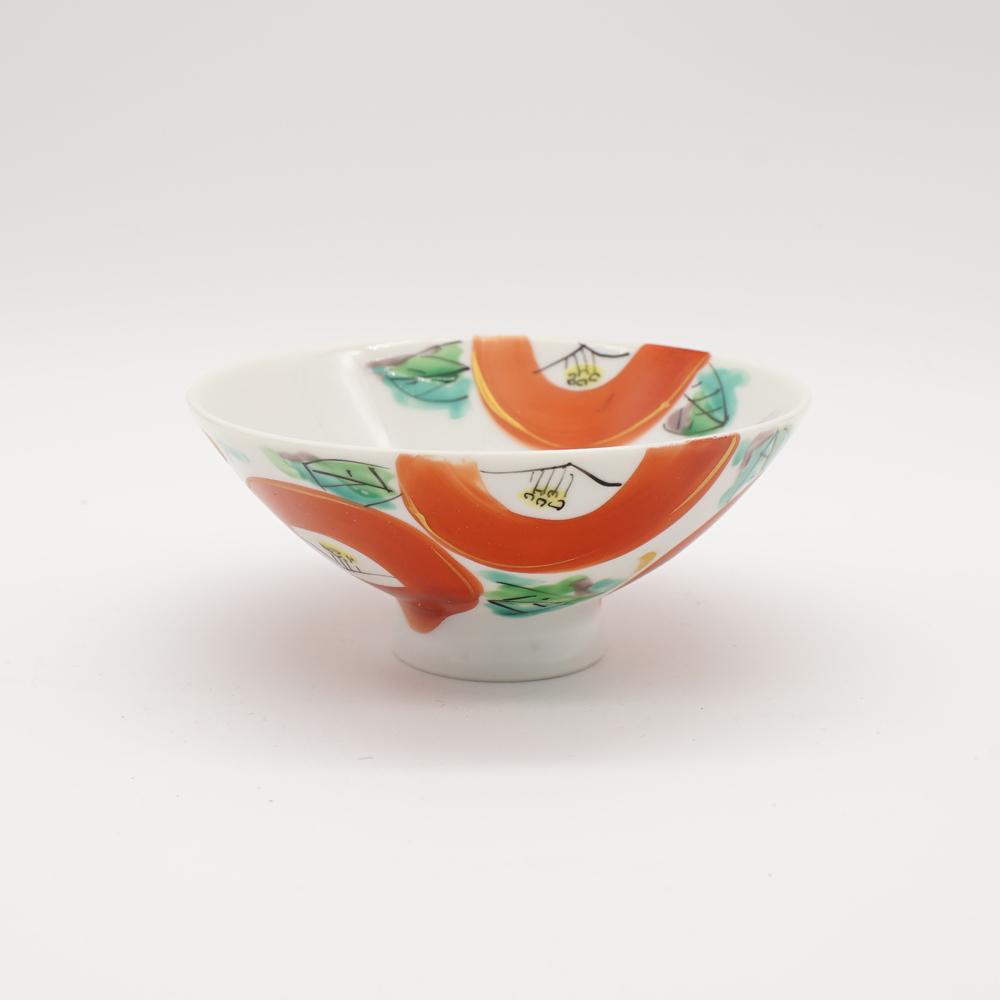 HP-1 色絵椿 小碗