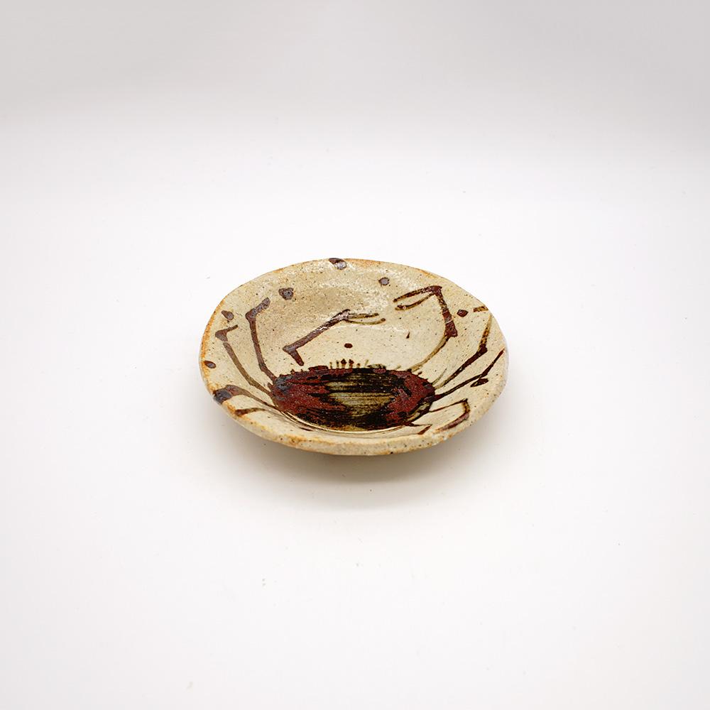 LE-6 蟹の絵  小皿