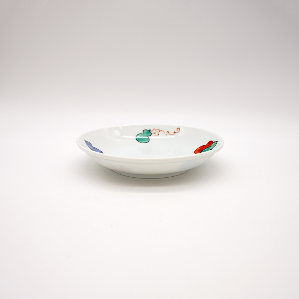 LP-21 色絵六瓢 銘々皿