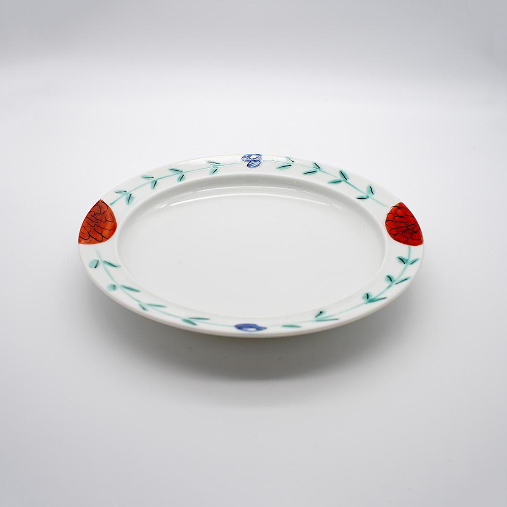 LP-22 色絵花文 カレー皿