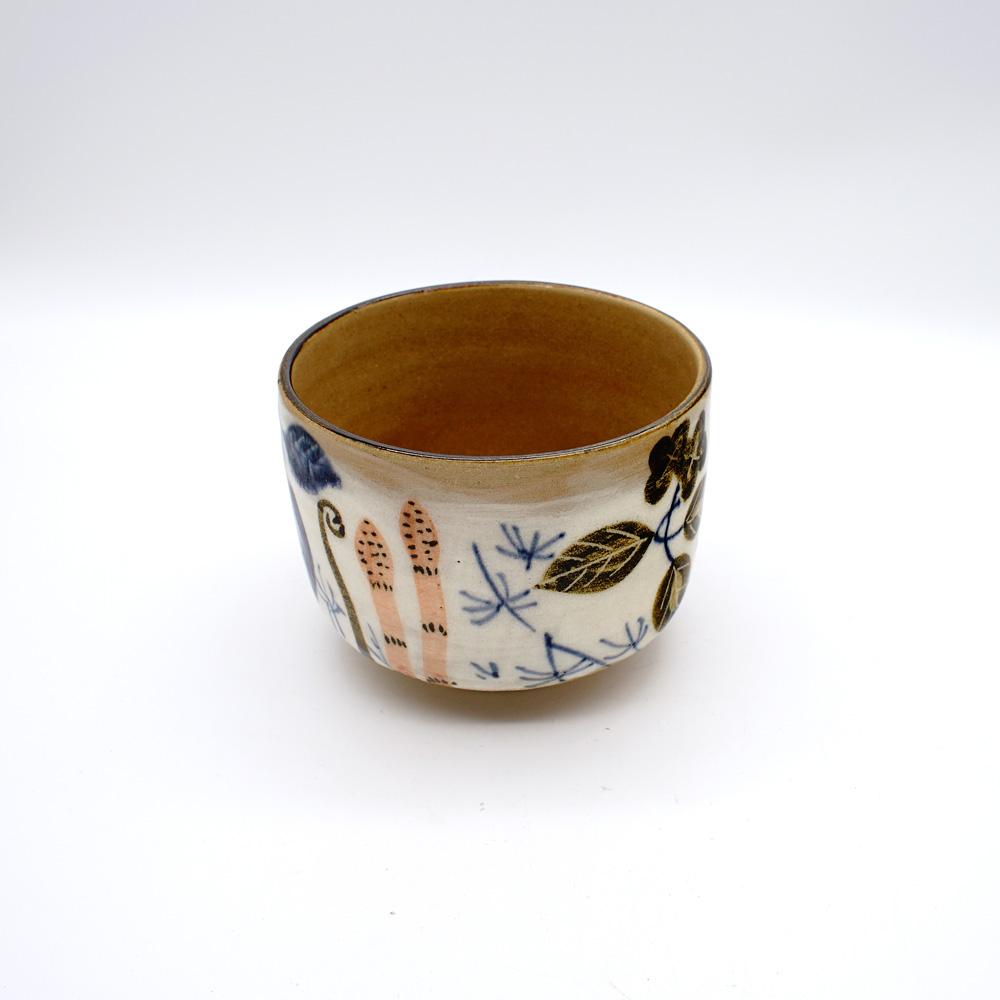 YE-15 乾山写銹絵染付春草図 抹茶碗