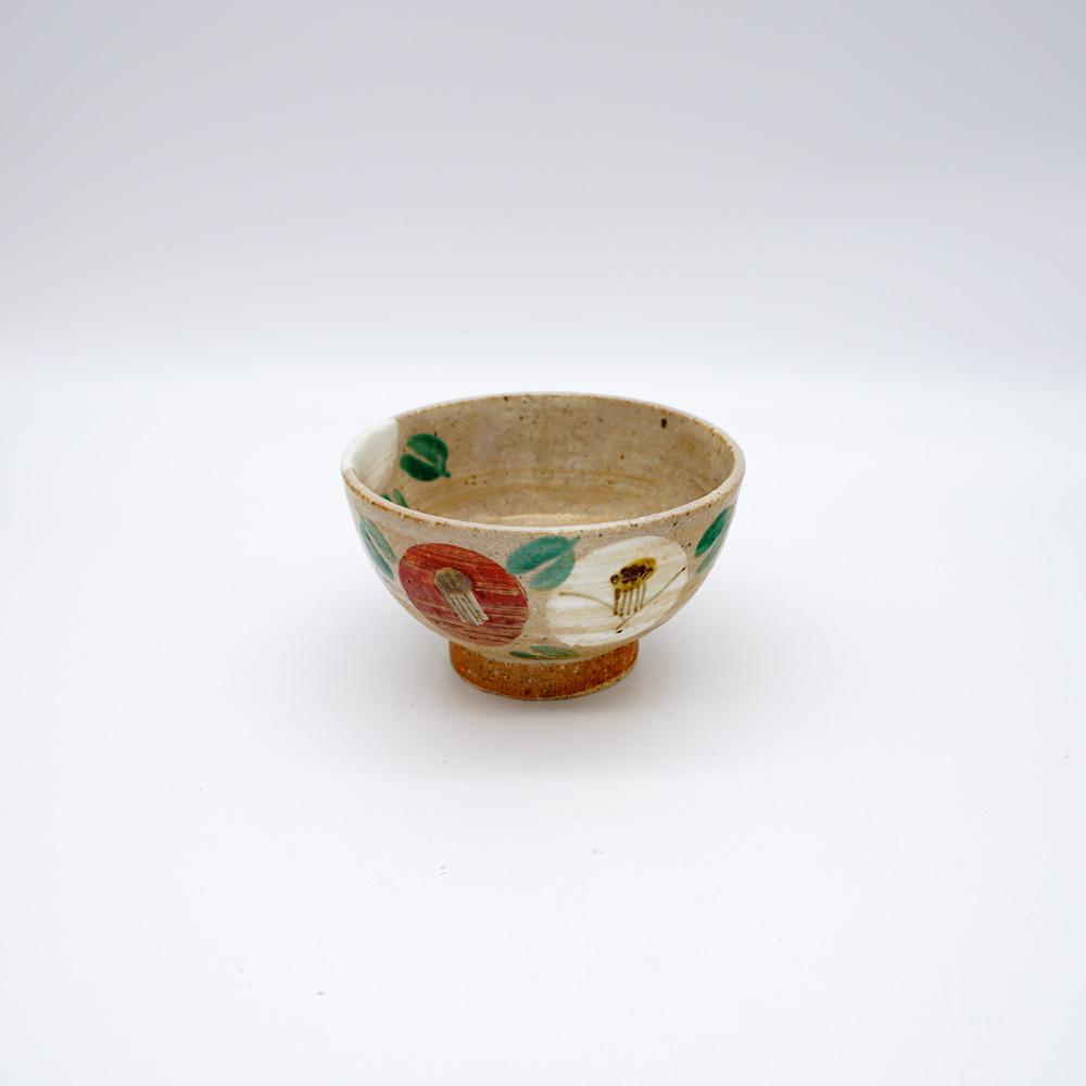 YE-8A 金彩椿 煎茶碗