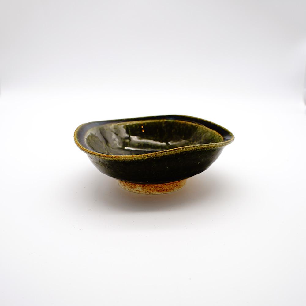 BE-4B 織部掻彫糸巻 小鉢