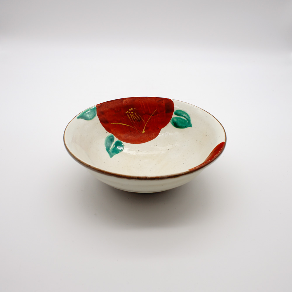 BE-27A 粉引赤椿 平鉢