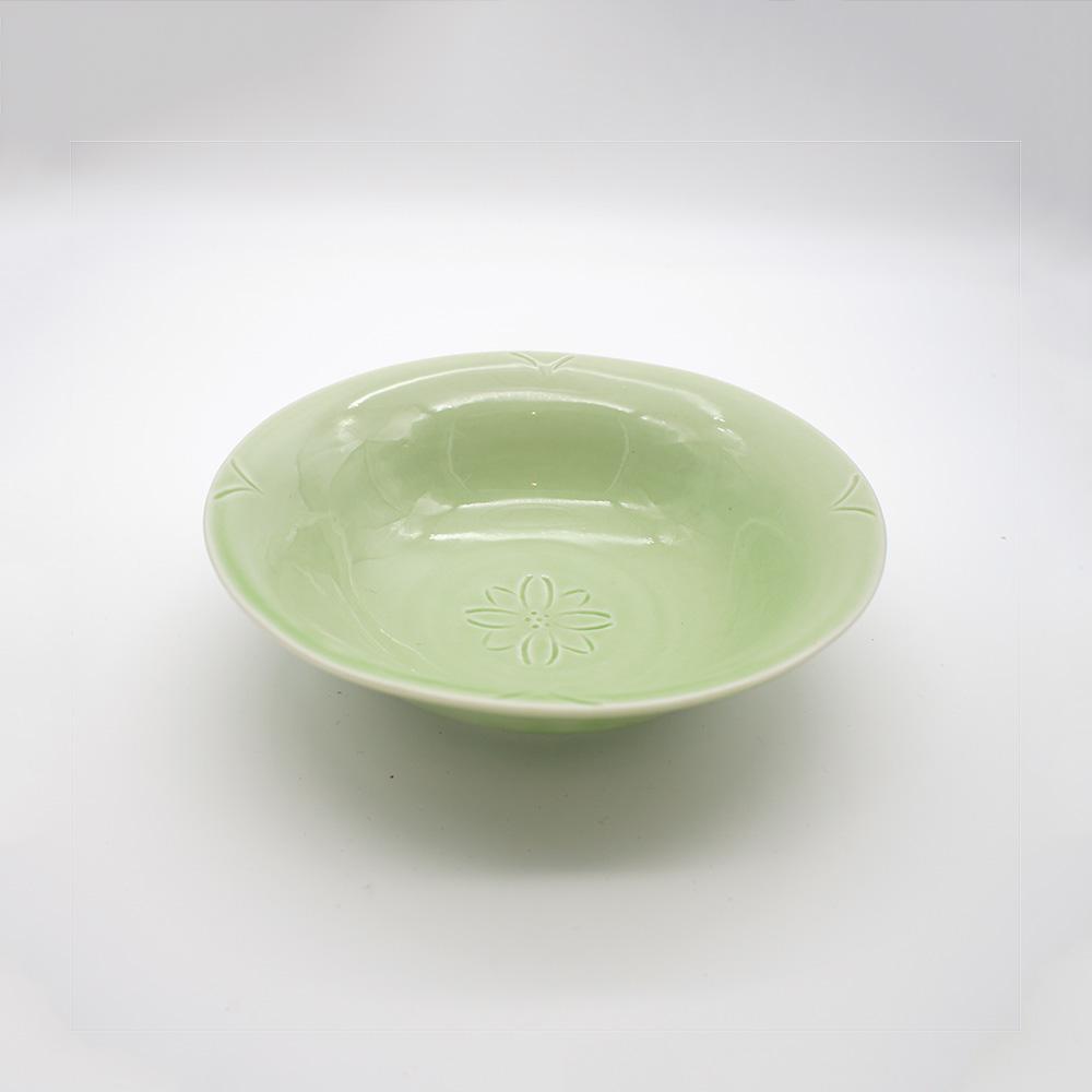 BP-11 緑釉花文 鉢