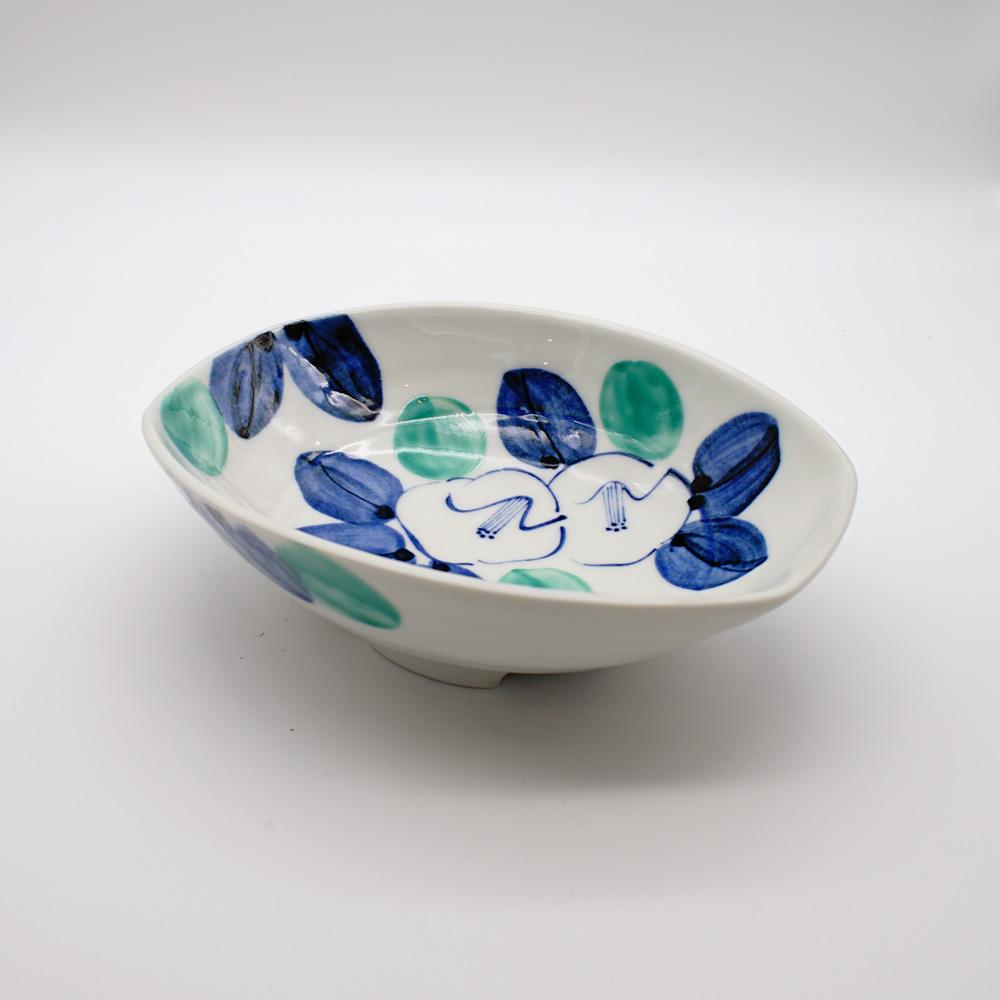 BP-12 染椿 舟形盛鉢